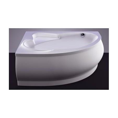Akmens masės vonia Vispool Marea, 170x110 dešininė balta