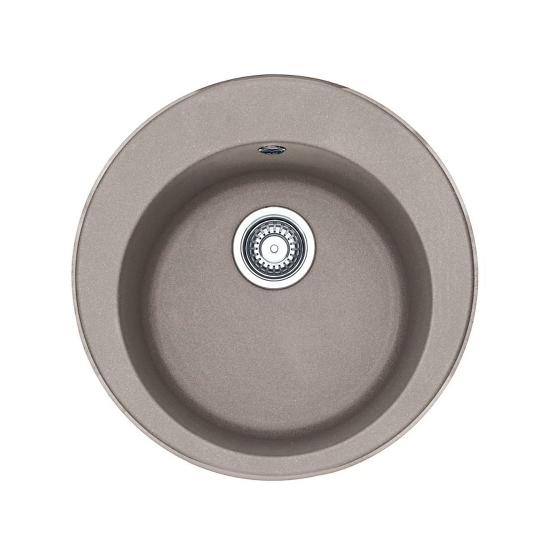 Akmens masės plautuvė Franke Ronda ROG 610-41, ekscentrinis ventilis, Cashmere