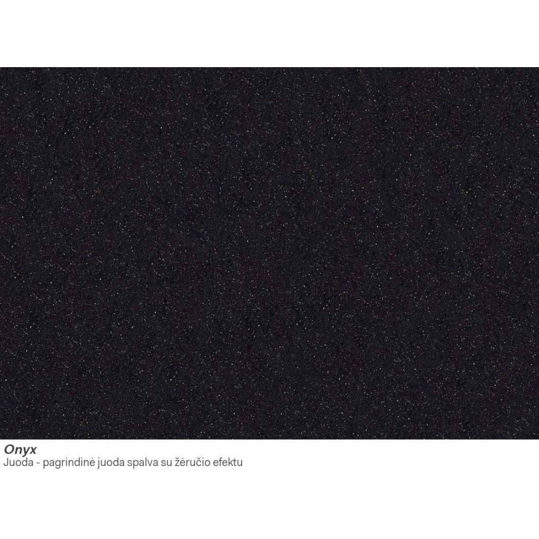 Akmens masės plautuvė Franke Ronda ROG 611-62, užkemšamas ventilis, Onyx