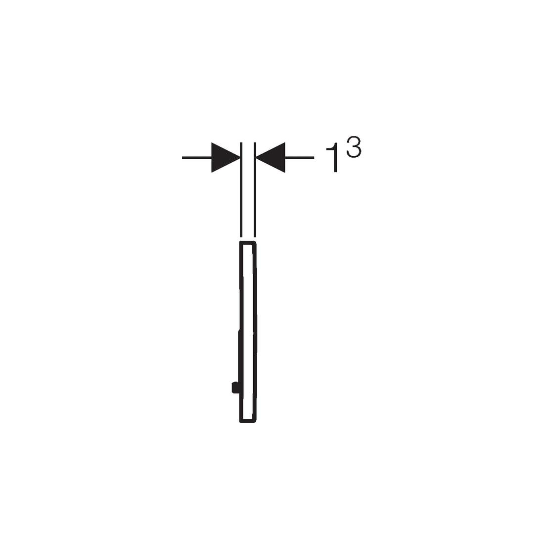 WC klavišas Geberit, Sigma 01, blizgus chromas