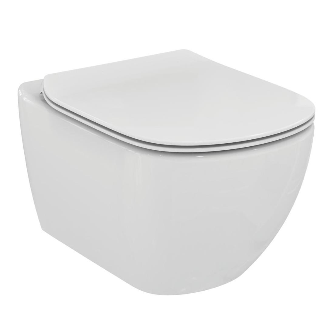 WC pakabinamas Ideal Standard Tesi, Rimless, su paslėptais tvirtinimais