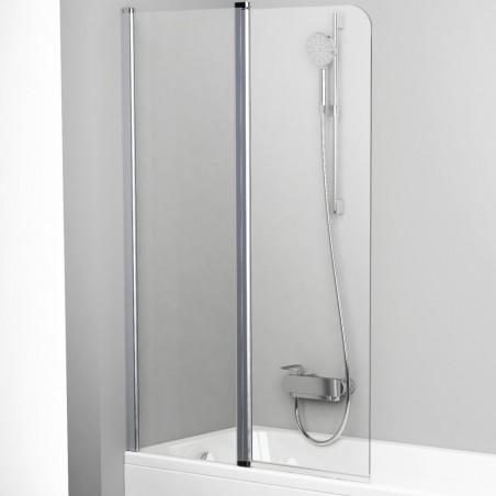 Vonios sienelė Ravak Chrome CVS2 100, kairė, blizgus profilis