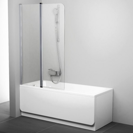 Vonios sienelė Ravak Chrome CVS2 100, kairė, baltas profilis