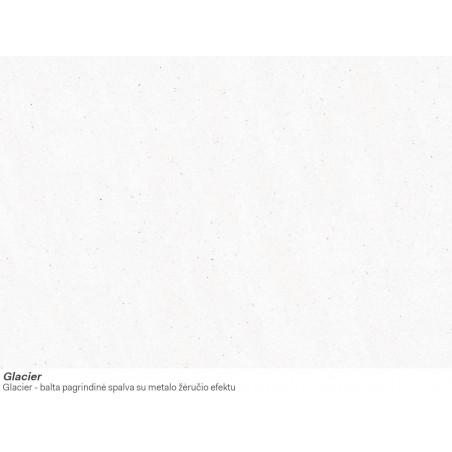 Akmens masės plautuvė Franke Kubus KBG 110-50, užkemšamas ventilis, Glacier