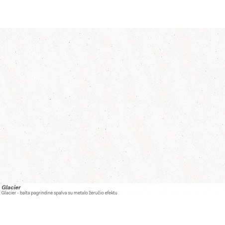 Akmens masės plautuvė Franke Kubus KBG 160, ekscentrinis ventilis, Glacier