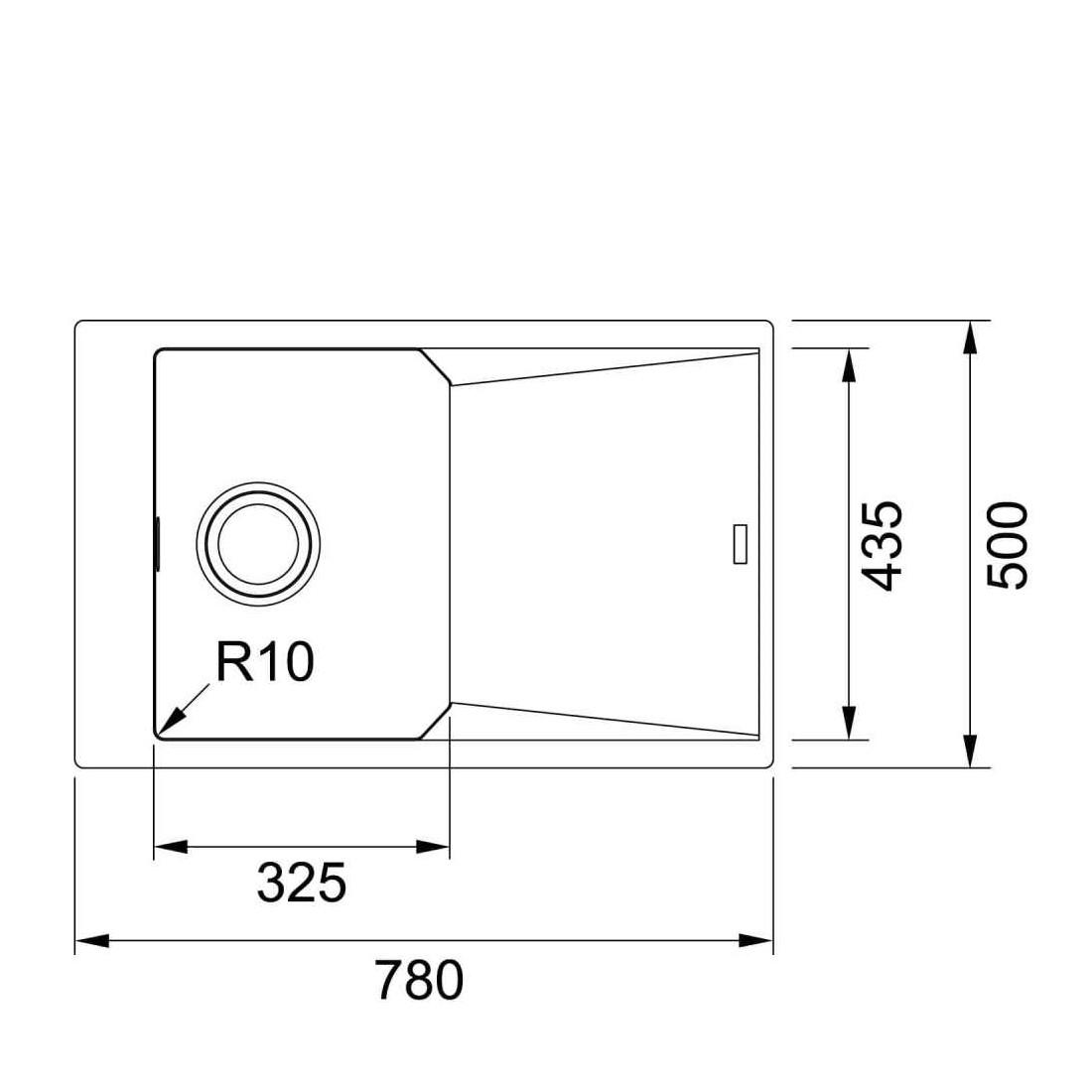 Akmens masės plautuvė Franke FX FXG 611-78, Graphit