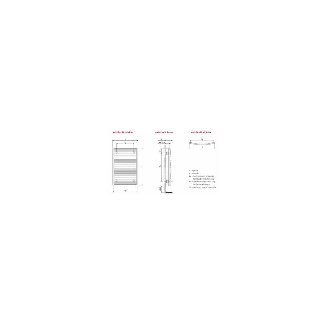 Rankšluosčių džiovintuvas PURMO Flores, C CH 600-770 296 W