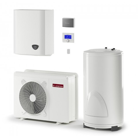 Šilumos siurblys Oras-Vanduo Ariston Nimbus, Flex, 40 S Net 5.7 kW, su 180 (177 l) vandens šildytuvu ir Wi-Fi