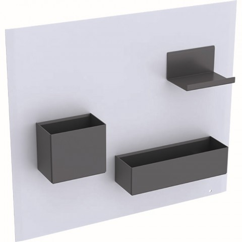 Magnetinė lenta su daiktadėžėmis Geberit, Balta/Lava