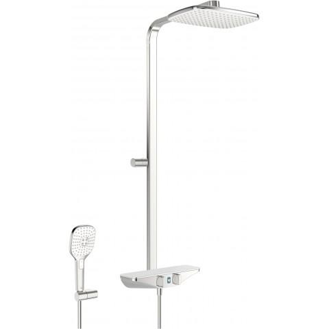 Termostatinė lietaus dušo sistema ESTETA Wellfit su rankiniu dušu, 6V, chromas
