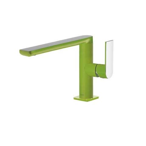 Praustuvo maišytuvas LOFT Colors paaukštintas H-170, tiesiu snapu , žalia/chromas