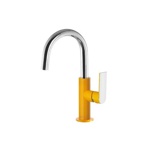 Praustuvo maišytuvas LOFT Colors paaukštintas H-170, riestu snapu , geltona/chromas