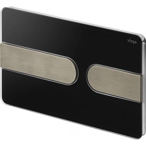 WC klavišas Viega Prevista, Visign For Style 23, ryškiai juoda/nerūdijančio plieno