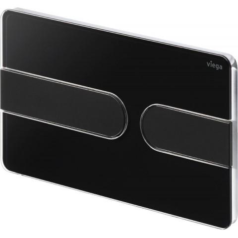WC klavišas Viega Prevista, Visign For Style 23, ryškiai juoda/matinė juoda