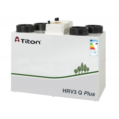 Rekuperatorius TITON HRV3 Q Plus BE Aura Enthalpy kairinis 423m3/h@100Pa