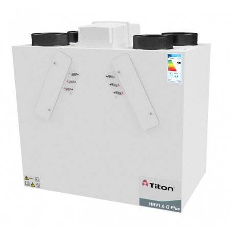 Rekuperatorius TITON HRV1.6 Q Plus BCF Eco dešininis 359m3/h@100Pa, su fitrų durelėmis