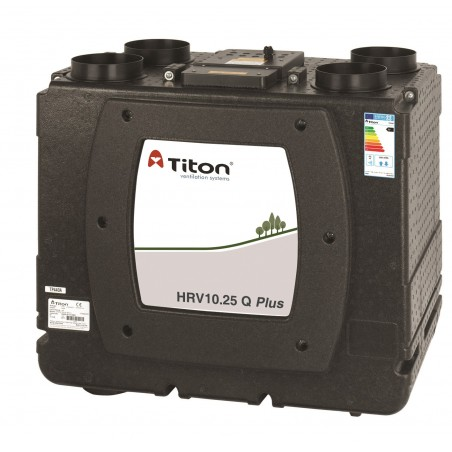Rekuperatorius TITON HRV10.25 Q Plus BC Eco kairinis 518m3/h@100Pa