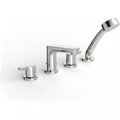 Vonios maišytuvas Saga su rankiniu dušu, dušo žarna ir apatine dalimi, 4-rių dalių