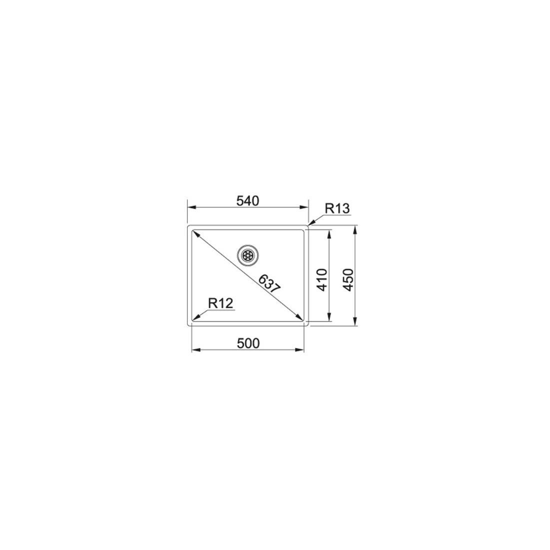 Plautuvė  FRANKE BOX, BXX 210/110-50