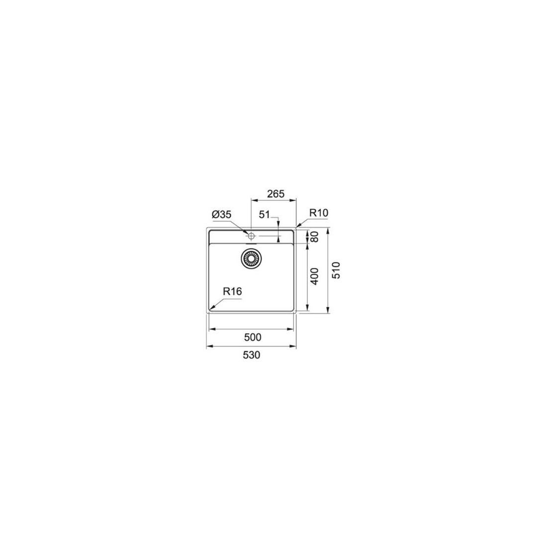 Nerūdijančio plieno plautuvė FRANKE MARIS, MRX 210-50 TL