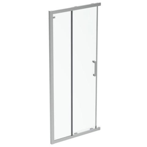 Dušo sienelė IDEAL STANDARD, Connect 90 cm, profilis aliuminis, stiklas skaidrus