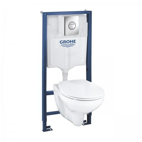 Rėmo 1,13M ir WC puodo -3/6L, komplektas SOLIDO 4in1 ( *tik pilnom pall.)