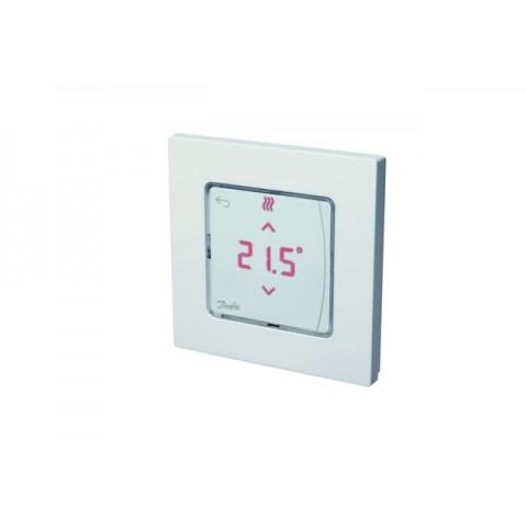Kambario termostatas Danfoss RS Icon, 230V, mont. į sieną 80x80