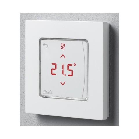 Kambario termostatas Danfoss RT Icon, 230V, mont. ant sienos 86x86