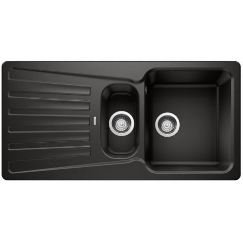 Plautuvė  BLANCONOVA 6 S,1000x500 mm, juoda spalva