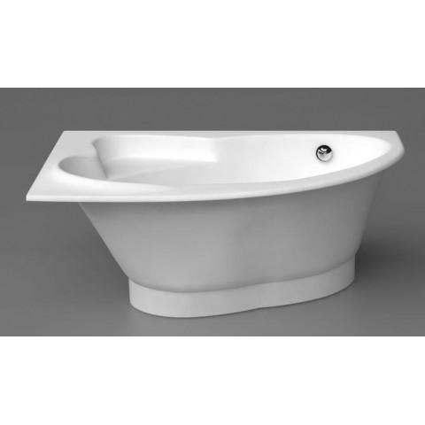Akmens masės vonia Vispool Orte 169x112 mm, balta