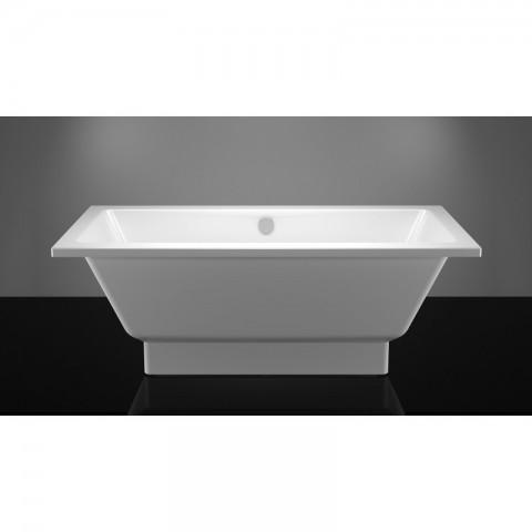 Akmens masės vonia Vispool Nordica, 1600x750 mm su paslėptomis kojomis, balta