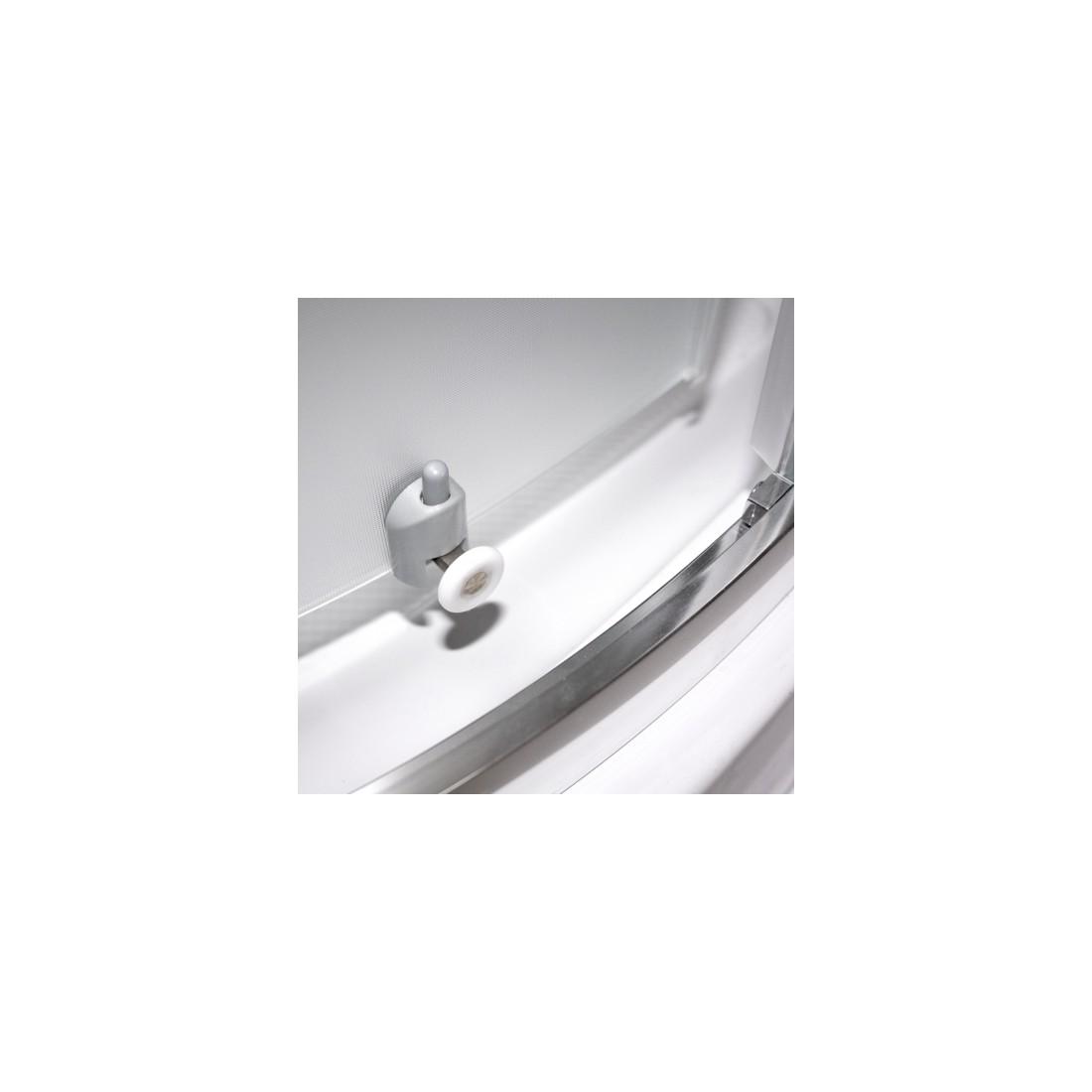 Dušo kabina Portland Neo 800, profilis brillant, stiklas matinis