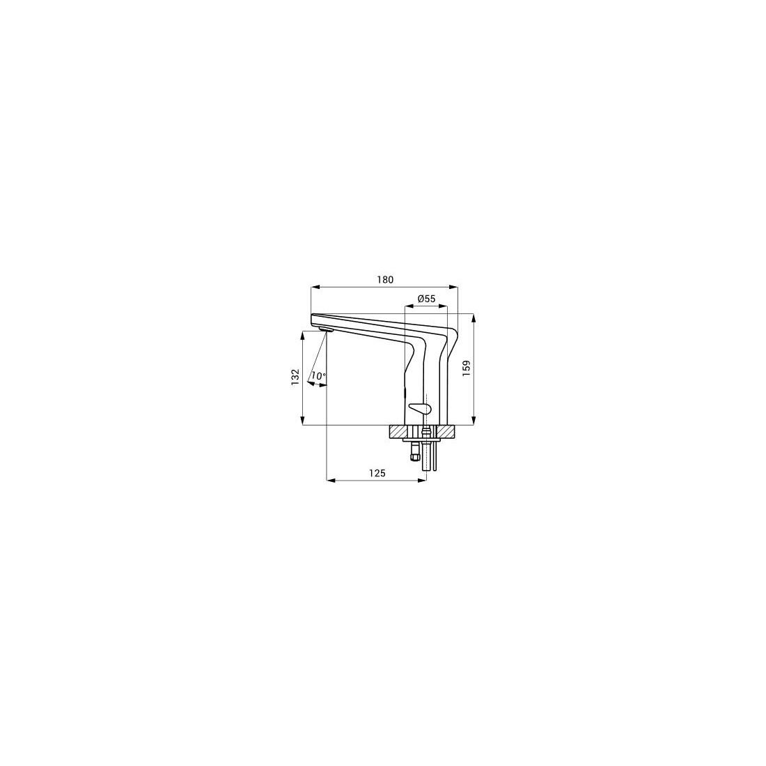 Praustuvo maišytuvas Sanela SLU 37 su integruota elektronika, 24 V DC