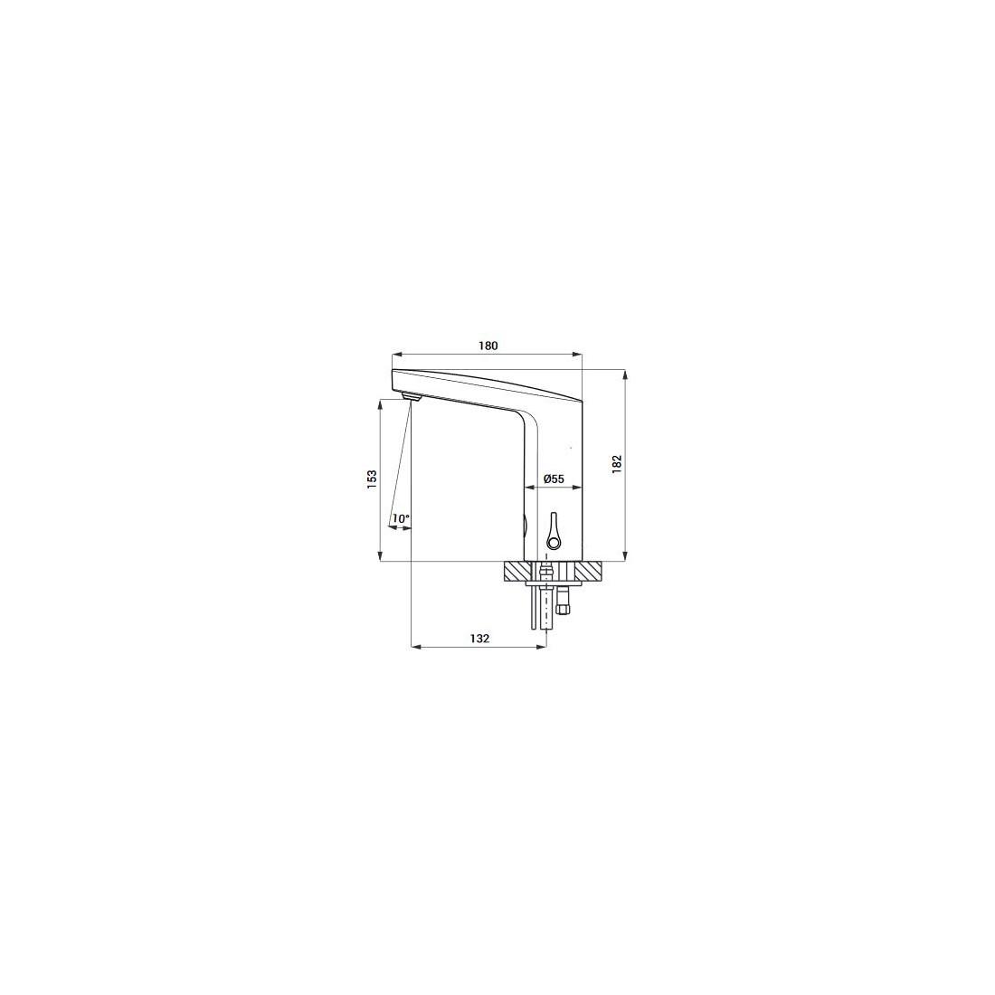 Praustuvo maišytuvas Sanela SLU 83 su integruota elektronika, 24 V DC