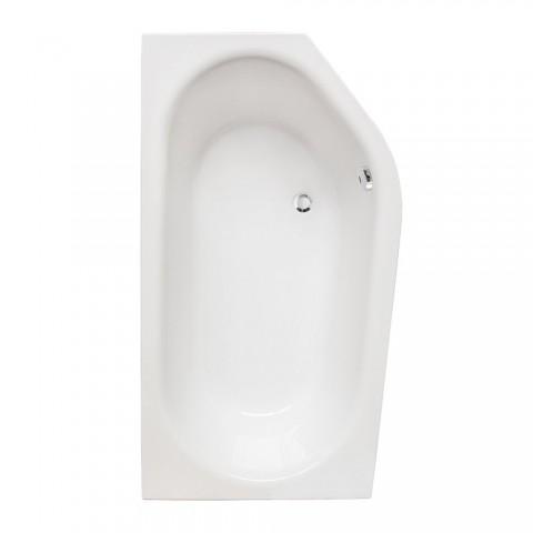 Asimetrinė vonia Activa Neo L 1600x900 mm, balta
