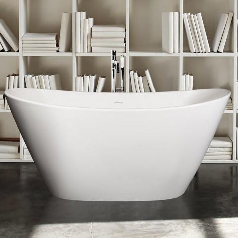 STONE AMORE Ovali vonia iš lieto mamuro 1600x850mm
