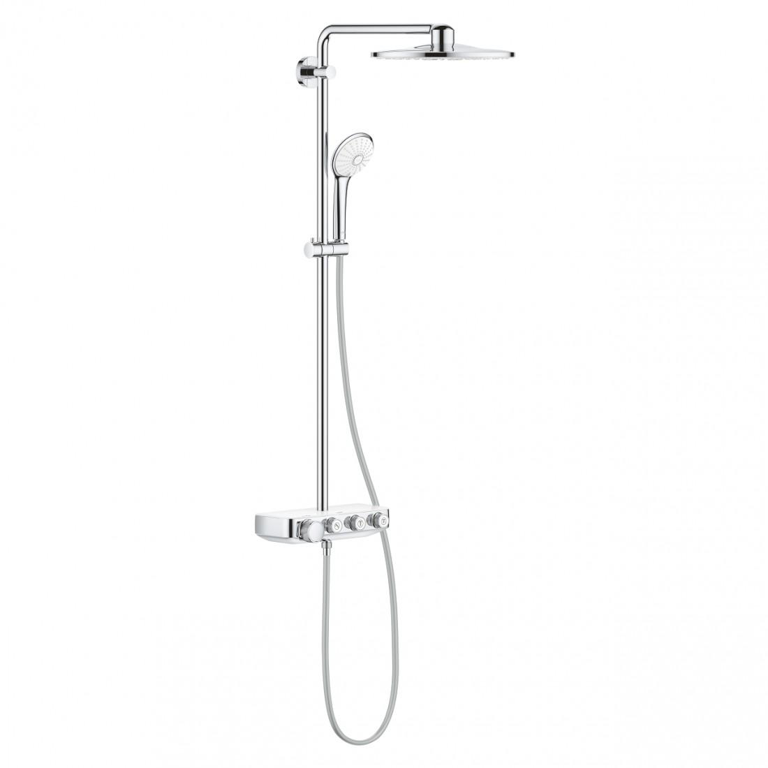 Virštinkinė dušo sistema Euphoria Smartcontrol 310, balta spalva