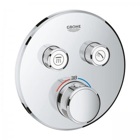 Virštinkinė dušo maišytuvo dalis SmartControl, 2 ištekėjimo jungtys, chromas