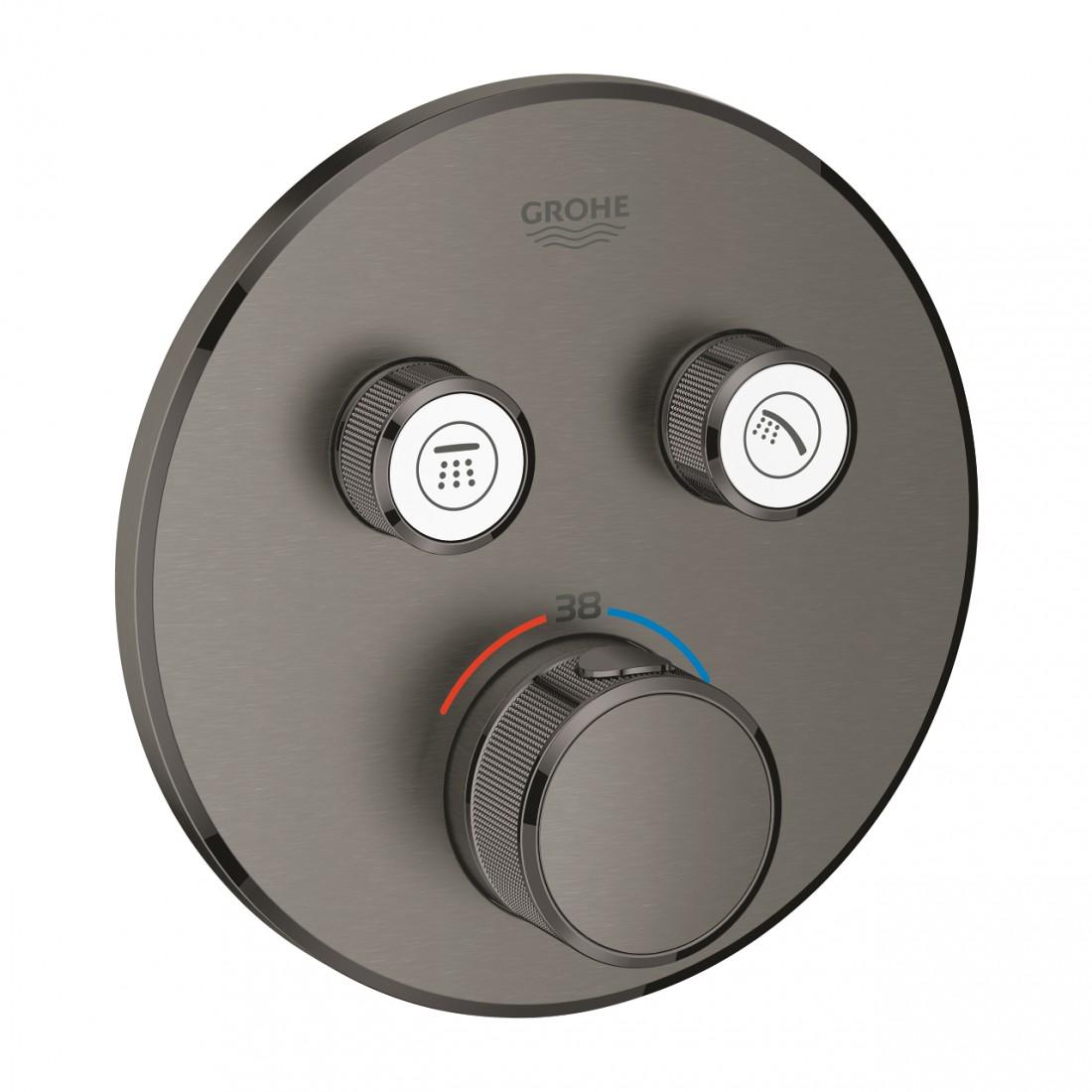 Virštinkinė dušo maišytuvo dalis SmartControl 2 ištekėjimo jungtys, grafito spalva