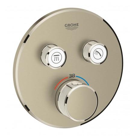 Virštinkinė dušo maišytuvo dalis SmartControl 2 ištekėjimo jungtys, šlifuotas nikelis