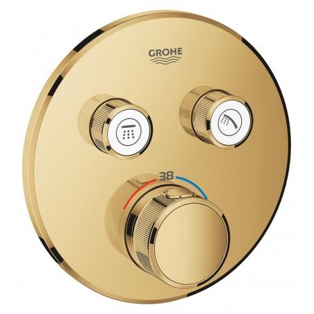 Virštinkinė dušo maišytuvo dalis SmartControl, 2 ištekėjimo jungtys, aukso spalva