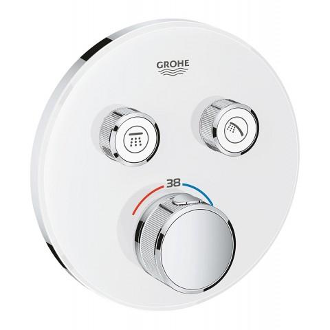 Virštinkinė termostatinio maišytuvo dalis Grohtherm SmartControl,2 valdikliai, balta