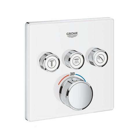 Virštinkinė termostatinio maišytuvo dalis Grohtherm SmartControl, 3 valdikliai, baltas