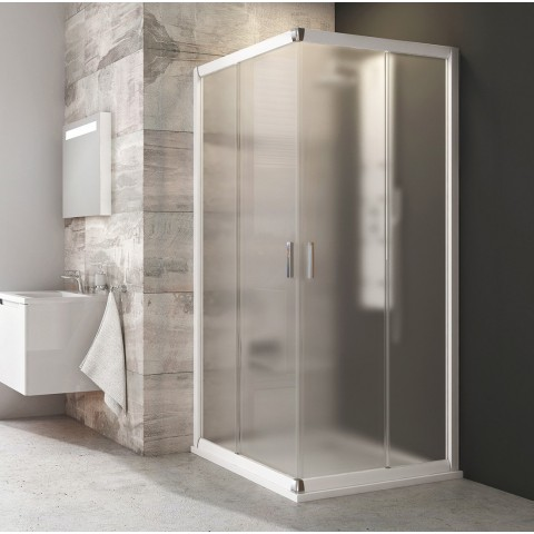 Kvadratinė dušo kabina Ravak Blix, BLRV2-90, balta+stiklas Grape