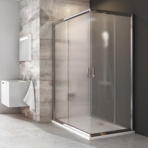 Stačiakampės dušo kabinos sienelė Ravak Blix, BLRV2K-100, blizgi+stiklas Grape