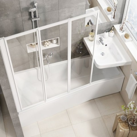 Akrilinė vonia Ravak BeHappy II, 170x75, kairinė