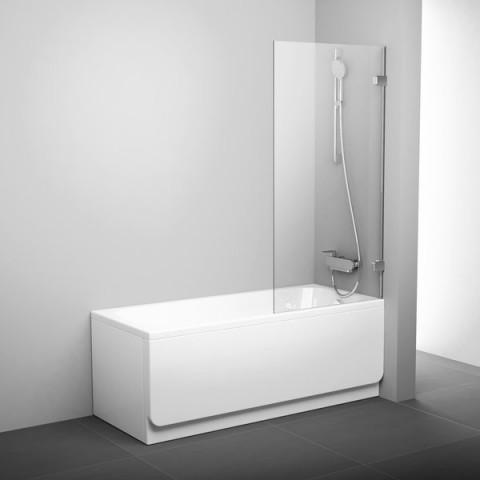 Vonios sienelė Ravak Brilliant, BVS1 80 chromas+stiklas Transparent