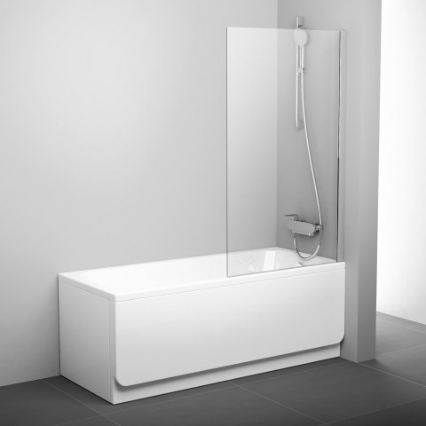 Stacionari vonios sienelė Ravak Pivot, PVS1 80 blizgi+stiklas Transparent