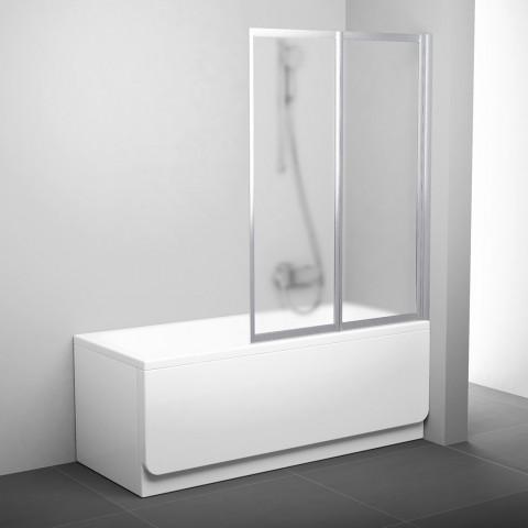 Sulankstoma vonios sienelė Ravak, VS2 105, satinas+stiklas Grape