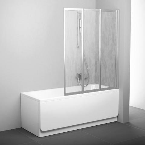 Sulankstoma vonios sienelė Ravak, VS3 130, satinas+plastikas Rain